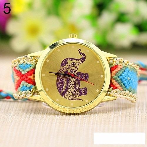 reloj pulsera de lana tejido a mano para damas  moda geneva