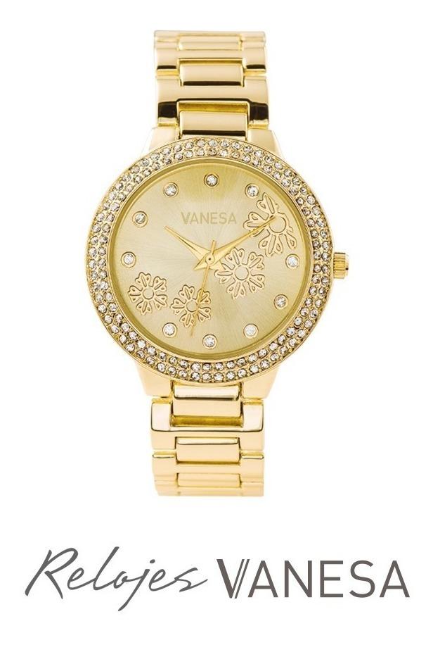 Reloj Shiny Pulsera Modelo Vanesa Dorado Strass Mujer Duran zMSUVp