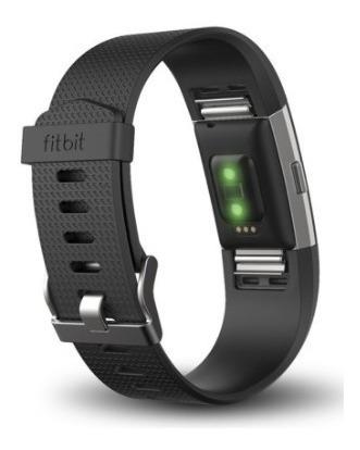 reloj pulsera fitbit charge 2hr ritmo cardiaco negro/ h