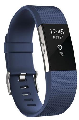 reloj pulsera fitbit control ritmo cardíaco fitness azul / h