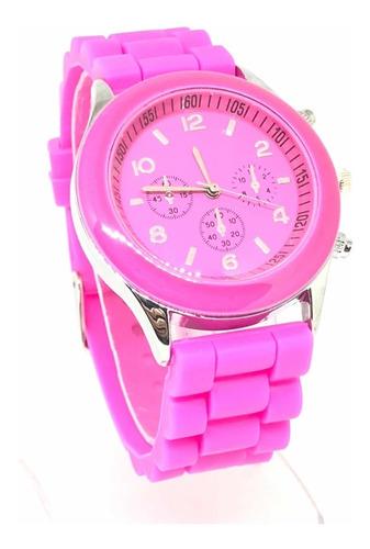 reloj pulsera  geneva silicona x 10 unidades el mejor precio de mercado libre siempre perfucasa