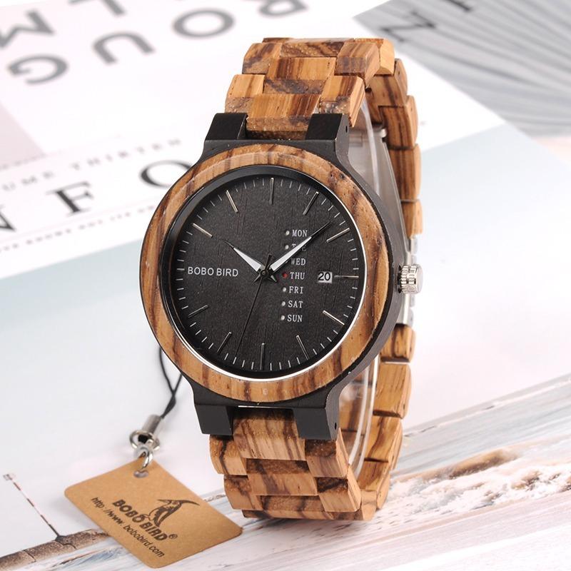 fe8f51425cb9 reloj pulsera hombre bobo bird fabricado con madera bambu 12. Cargando zoom.