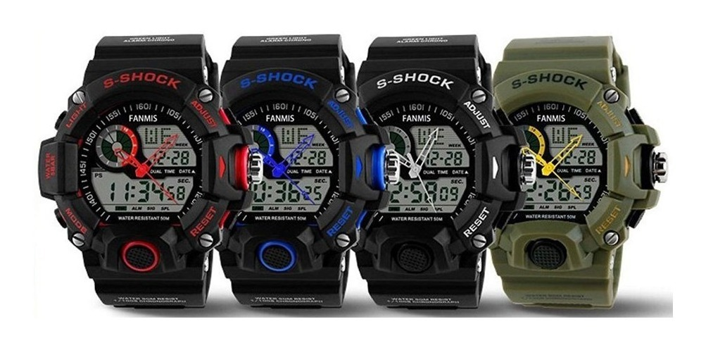 grandes ofertas en moda el más baratas 100% originales Reloj Pulsera Hombre Deportivo, Cuarzo, Resistente Luz Led