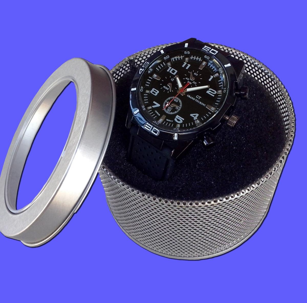 materiales superiores seleccione para el último diseño distintivo Reloj Pulsera Hombre Deportivo Gt Silicona Con Lata/caja