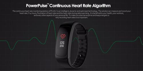 reloj pulsera inteligente zeblaze plug c pantalla reflectiva