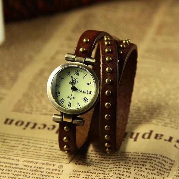 Reloj Cuero Oscuro Marrón Mujer Pulsera De Jq Malla Para mn0Nwv8