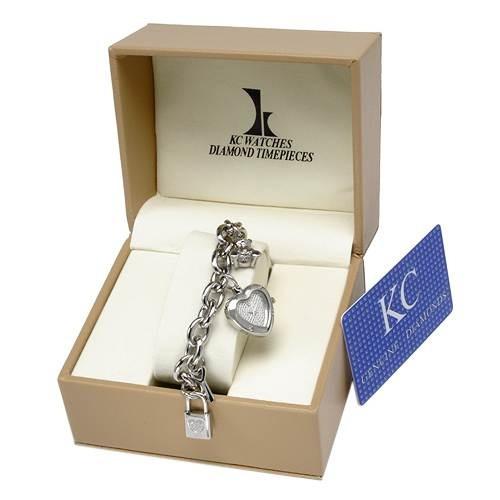 reloj pulsera kc, dama, 12 diamantes y acero inoxdiable sp0
