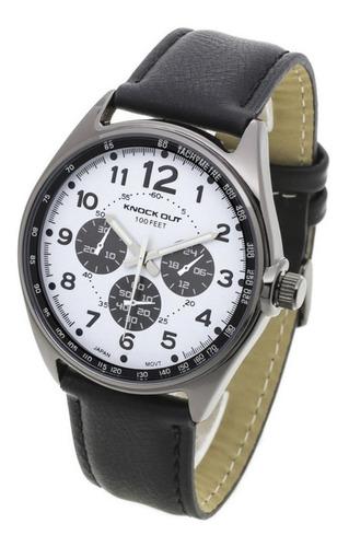 reloj pulsera knock out hombre mod 2577 simil cuero liniers