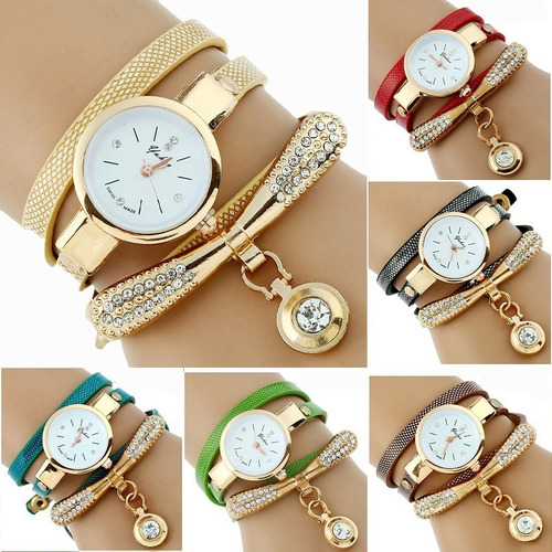 reloj pulsera mayoreo brazalete dije mujer dama variedad