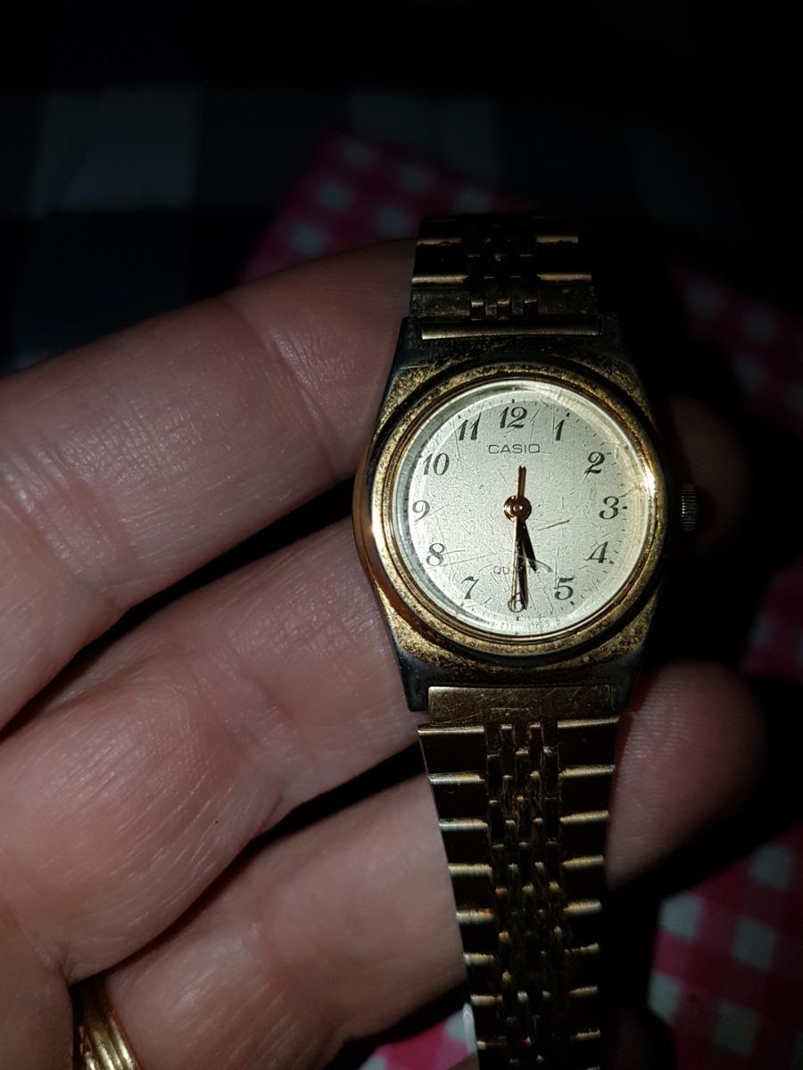 698fa7c1d0d1 reloj pulsera mujer casio malla acero dorado poco uso. Cargando zoom.