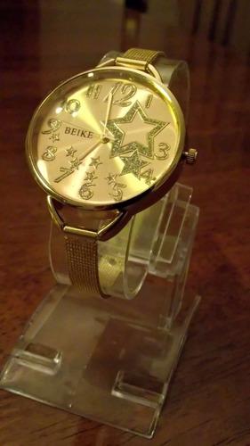 reloj pulsera mujer juvenil dorado jovenes barato oferta