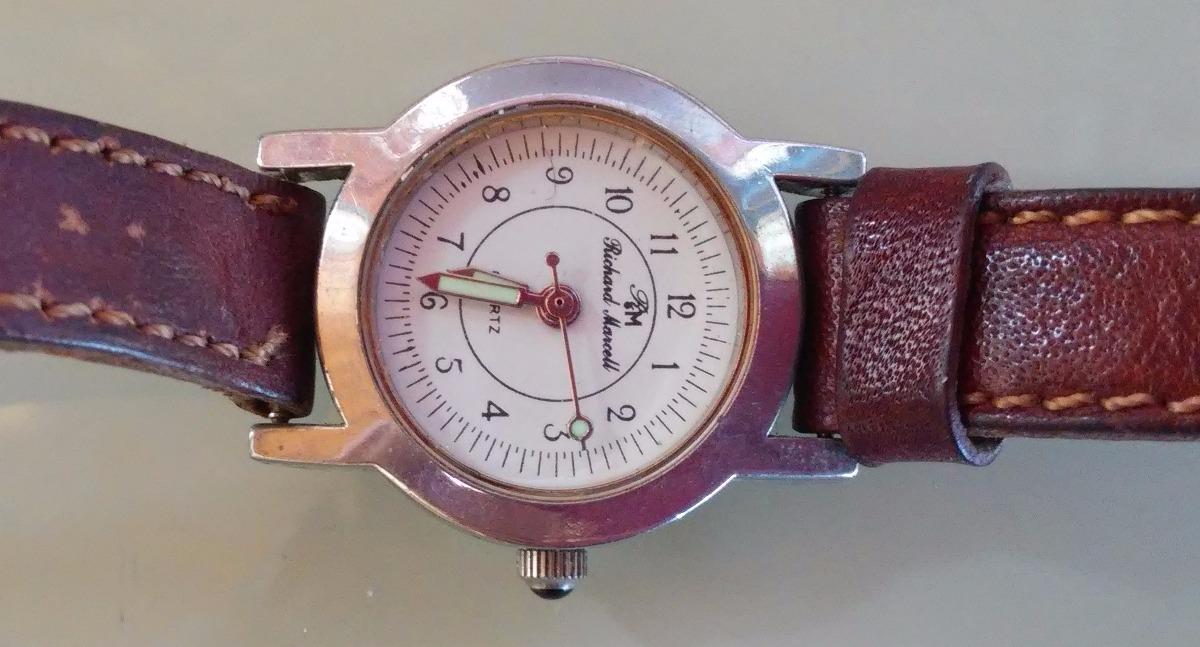 Reloj Pulsera Mujer Richard Marcell Quartz Malla Cuero Suela -   380 ... fe5d2efa0415