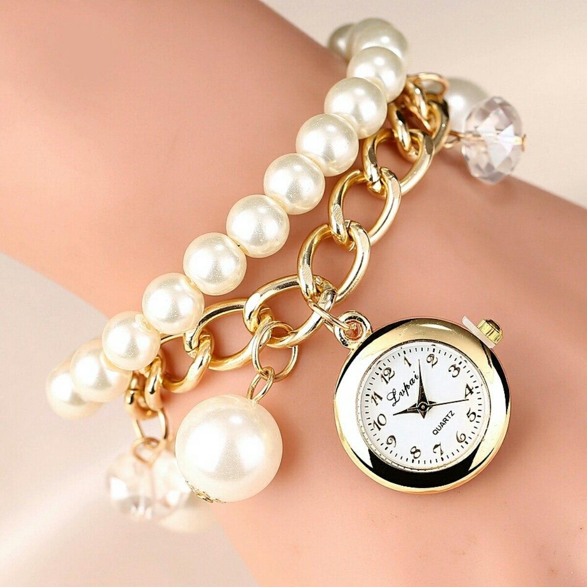 fdcb4039fe09 reloj pulsera perlas moda mujer nuevos. Cargando zoom.