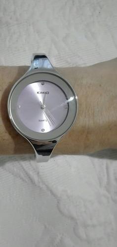 reloj pulsera plateado