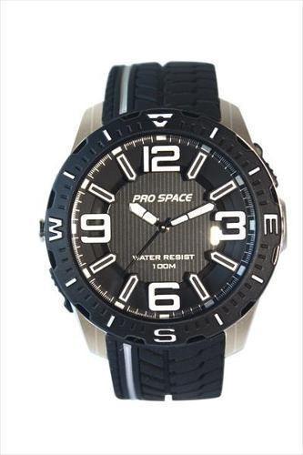 reloj pulsera pro space psh0114 sumerg c/luz linterna
