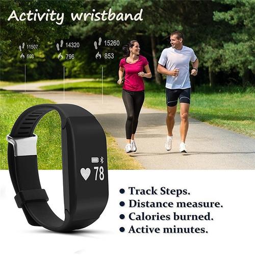 reloj pulsera pulsómetro monitor ritmo cardiaco negro