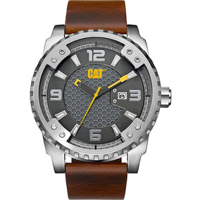 Cat Watches Grid 52mm Piel Ace Grande Sc14135521 Skull Made