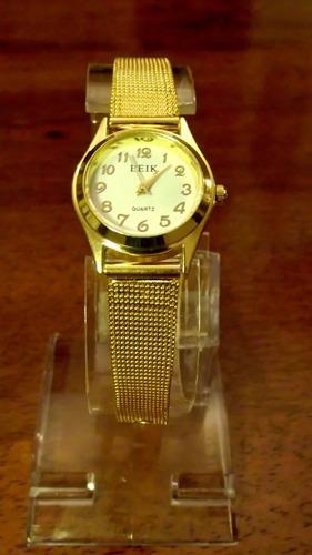 reloj pulsera señora dorado elegante mujer barato en oferta