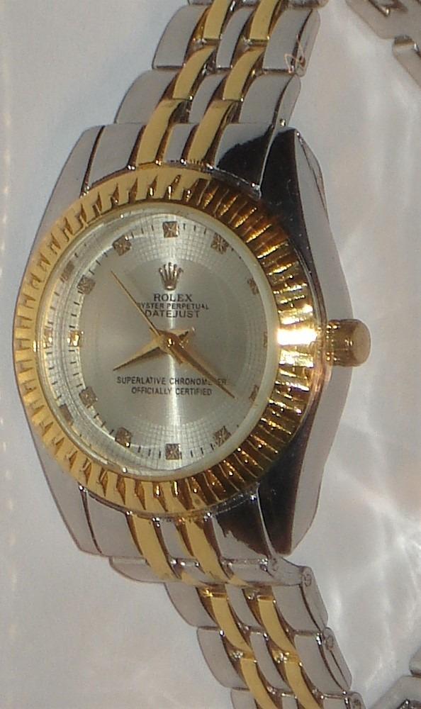 Pulsera Dama Cuadrante Reloj Simil Rolex Plateado qzMVpUS