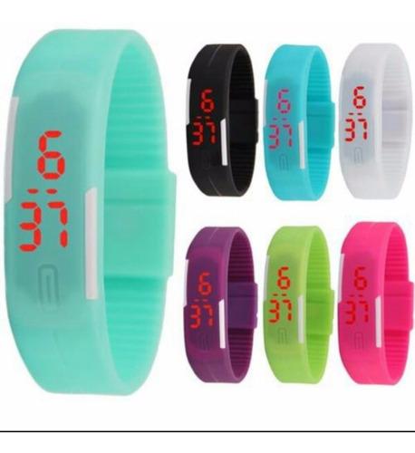 reloj pulsera tactil digital led silicona unisex deportivo