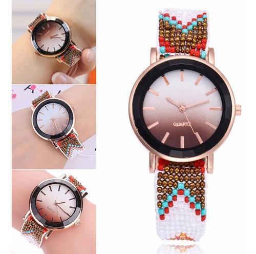 reloj pulsera tejido + caja de regalo tienda virtual fvs