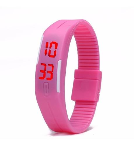 reloj pulsera touch led digital silicon barato