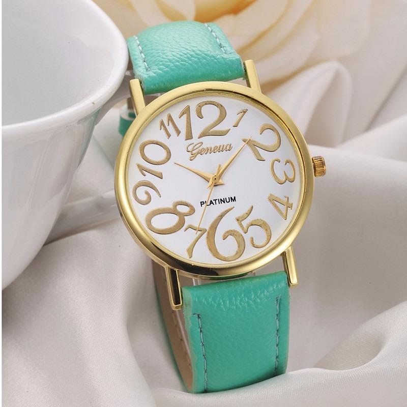 9aa1daa52248 reloj pulsera unisex eco cuero numeros grandes 12 u !!! Cargando zoom.
