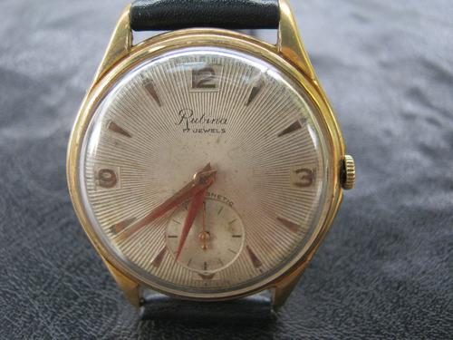 reloj pulsera varon  cuerda enchapado 17 rubies marca rubina