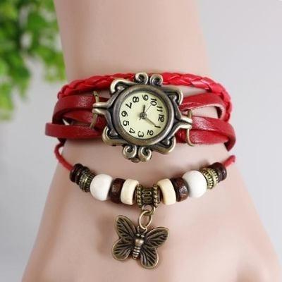 reloj pulsera vintage cuero dama 16 diseños y colores