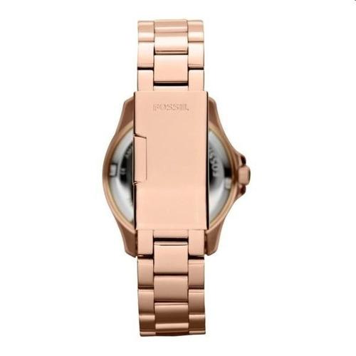 reloj pulso fossil am4454 dama oro rosa acero inox cuarzo