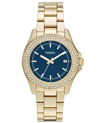 reloj pulso fossil am4520 dama cuarzo acero inoxidable azul