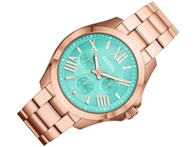 reloj pulso fossil am4540 dama cuarzo acero inoxidable azul