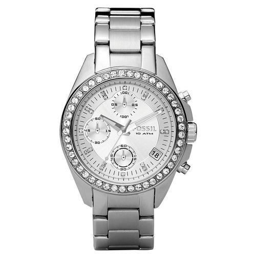 reloj pulso fossil es2681 mujer dama acero inoxidable piedra