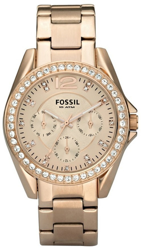 reloj pulso fossil es2811 dama cristal analogic cuarzo acero