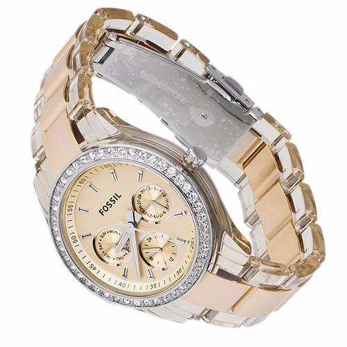 reloj pulso fossil es2867 dama analogico mineral cuarzo