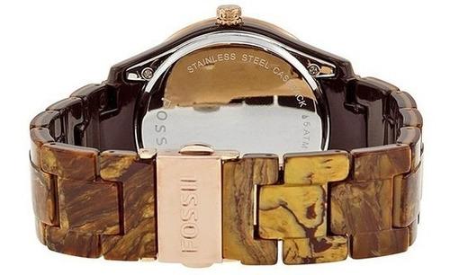 reloj pulso fossil es3088 dama cuarzo plastico multicolor