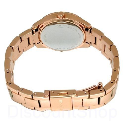 reloj pulso fossil es3196 dama cuarzo acero inoxidable rosa