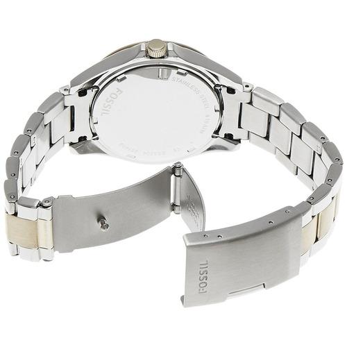 reloj pulso fossil es3204 dama cuarzo analogic bicolor acero