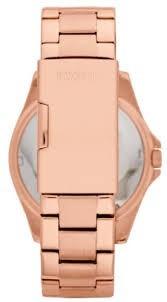 reloj pulso fossil es3341 dama acero cuarzo cristal oro rosa