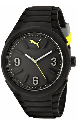 reloj puma caballero gummy big cat negro 100% original