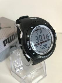 Reloj Con Digital Negro 5 Electroluminicente Puma Unisex Luz 8XwO0nPk