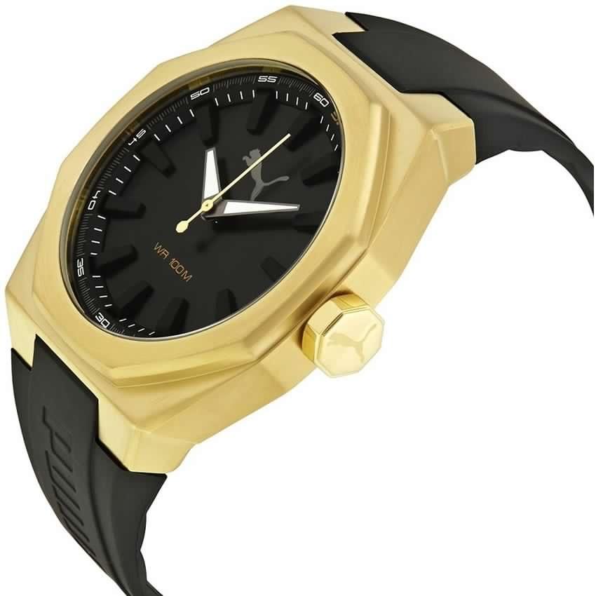 reloj puma hombre dorado