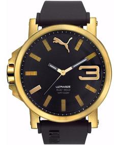 reloj hombre puma dorado