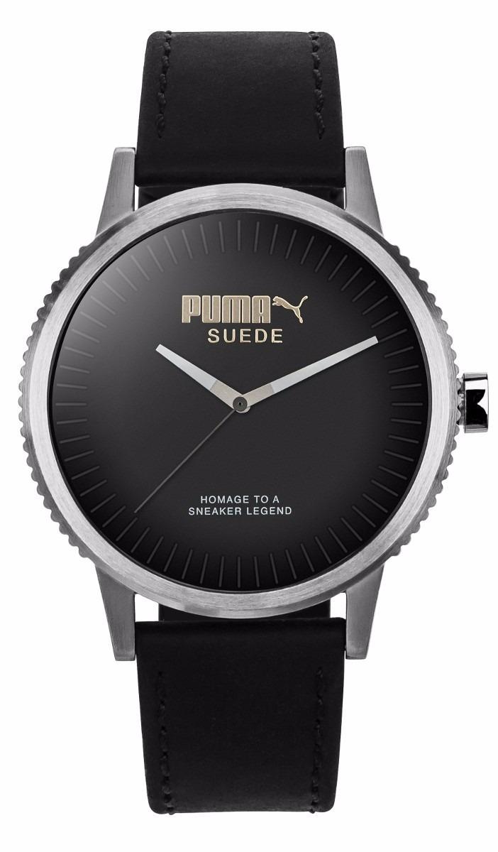 bedd5f4500c7 reloj puma suede pu104101001 piel negro original caballero . Cargando zoom.