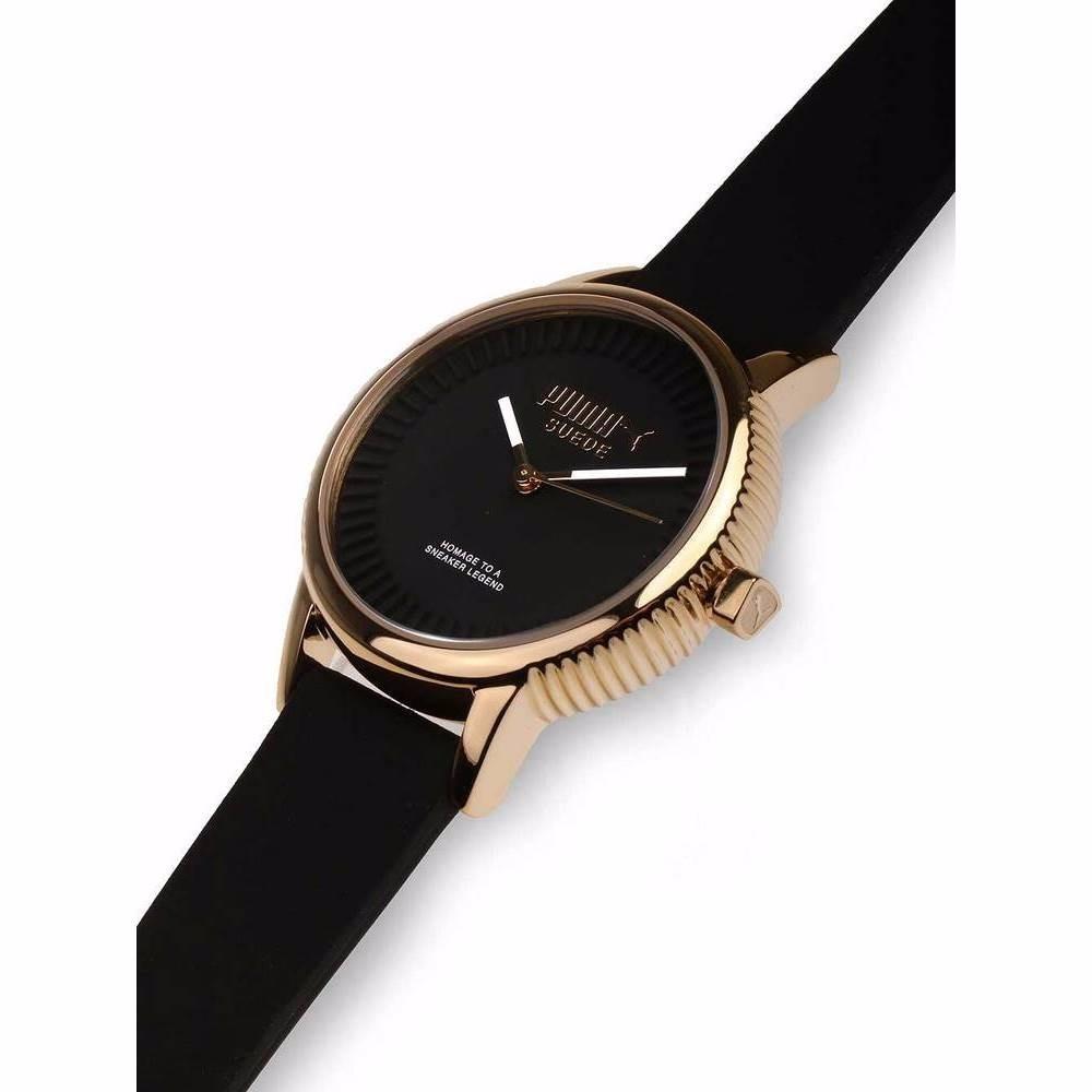 20885dc29a6b reloj puma suede pu104252002 original negro dorado para dama. Cargando zoom.
