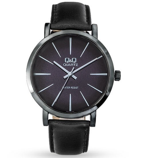 Cuero Reloj Clasico Hombre Elegante Negro Qamp;q Qq Casual Ybfy76g