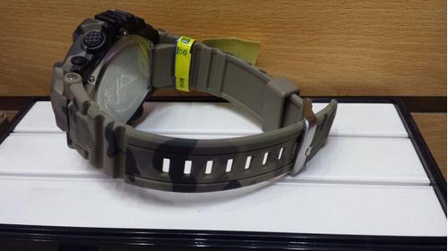 reloj q & q - resistencia a golpes - alarma - camuflaje