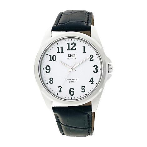 66b602cf44a2 Reloj Q416j304y Negro De Cuero Accesorios Para Hombre Fb -   159.900 ...