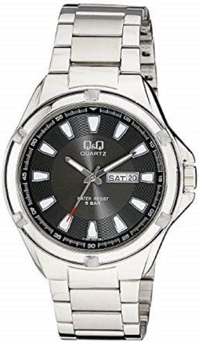 reloj q&q by citizen a192-202y 50m  2 calendarios caballero