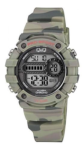 reloj q&q by citizen junior camuflado 100m shock resistant